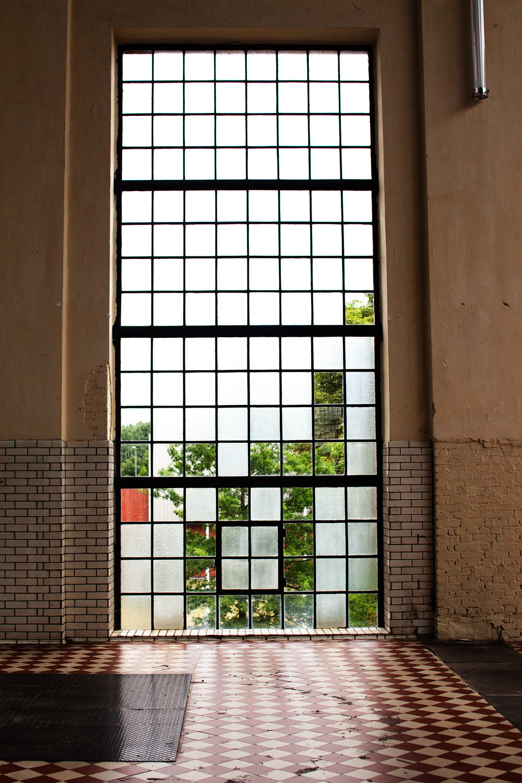 Large interesting window at C-mine, Genk