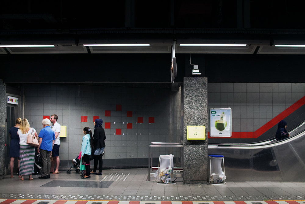 Tube station in Brussels, Belgium