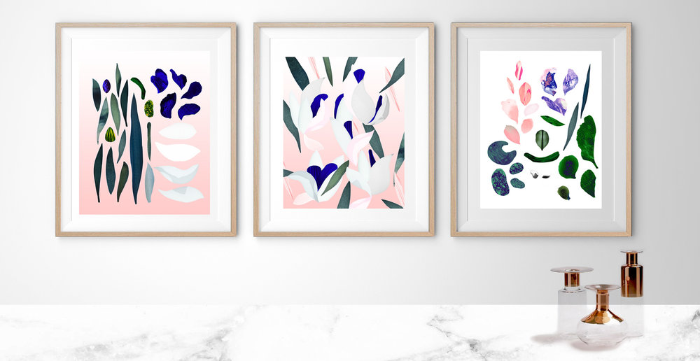 Latest artprints in shop botanical collection - Limited edition of #10
