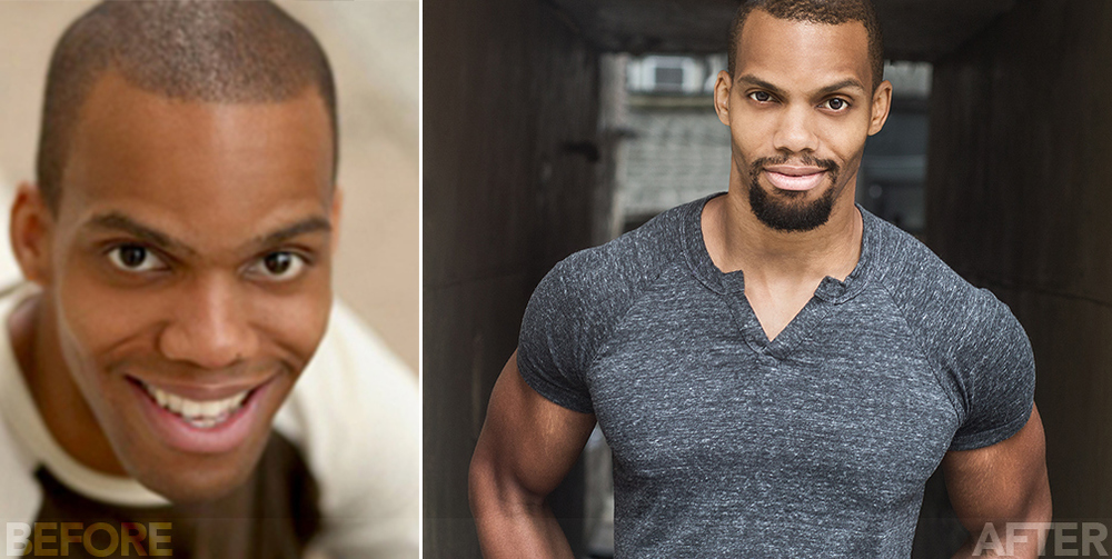 BEFORE & AFTER. See the variety #theBLUEexperience added to these actor's portfolios! (pictured: Book of Mormon's Paris Alexander Nesbitt.)