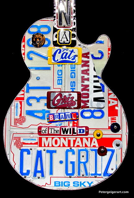 Cat Griz Football art