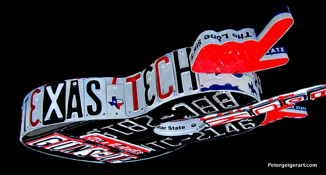 License plate art Texas Tech