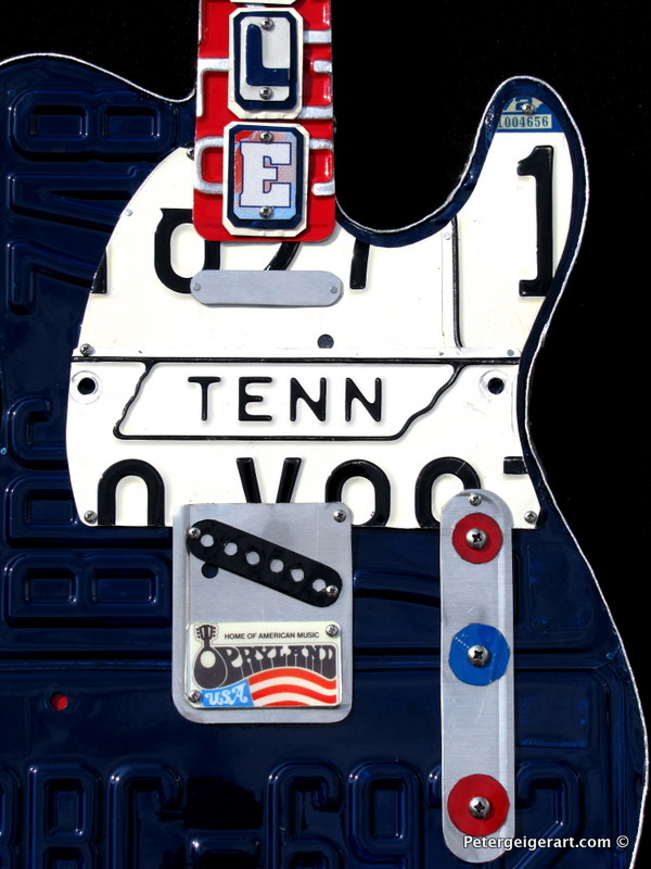 This was one of the license plate guitars I sold in Nashville at the Tennessee Fall Craft Fair.