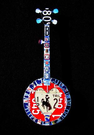 license plate banjo