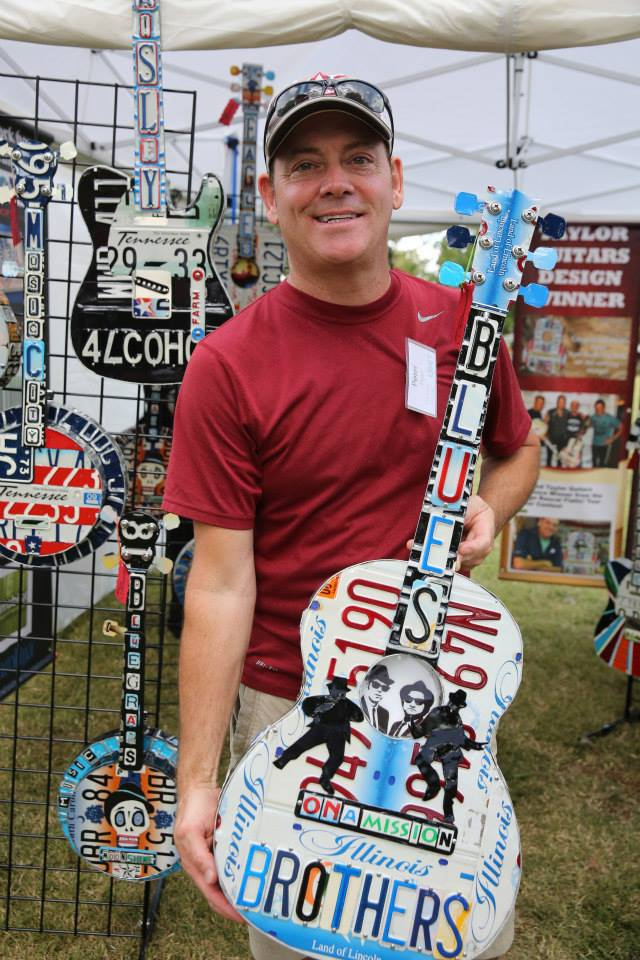 Thank you to the Tennessee Craft people who shared this photo of my Blues Brothers Guitar on their Facebook page.