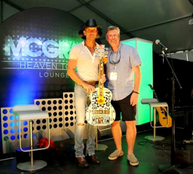 License plate art created as tour gift for country music star Tim McGraw