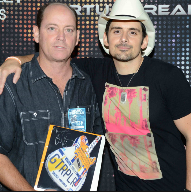 Custom piece for Brad Paisley created with his personal license plates from his cars over the years.