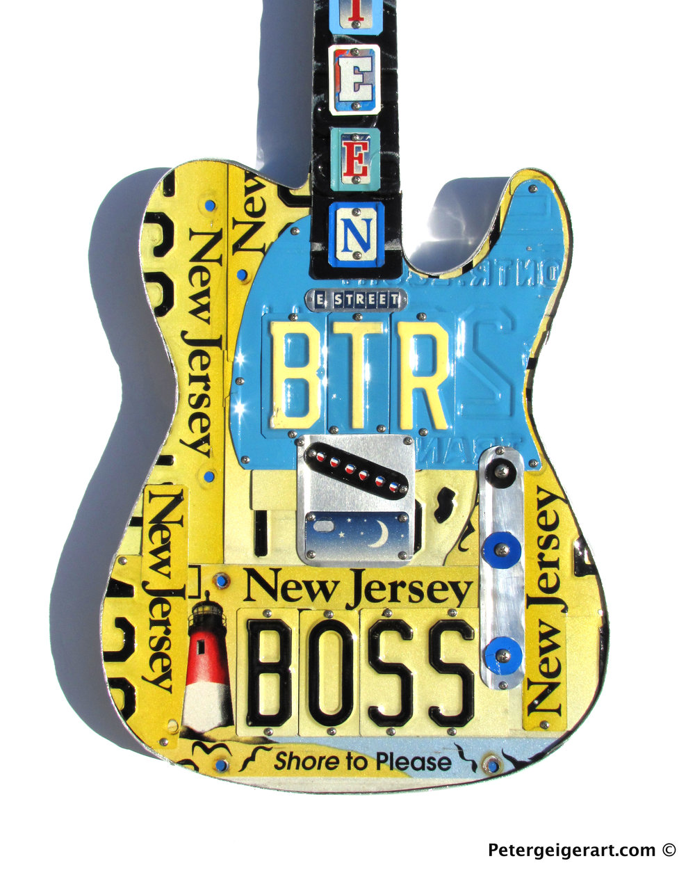 Bruce Springsteen Guitar Art Wall Decor |License Plate Art | One-Of ...