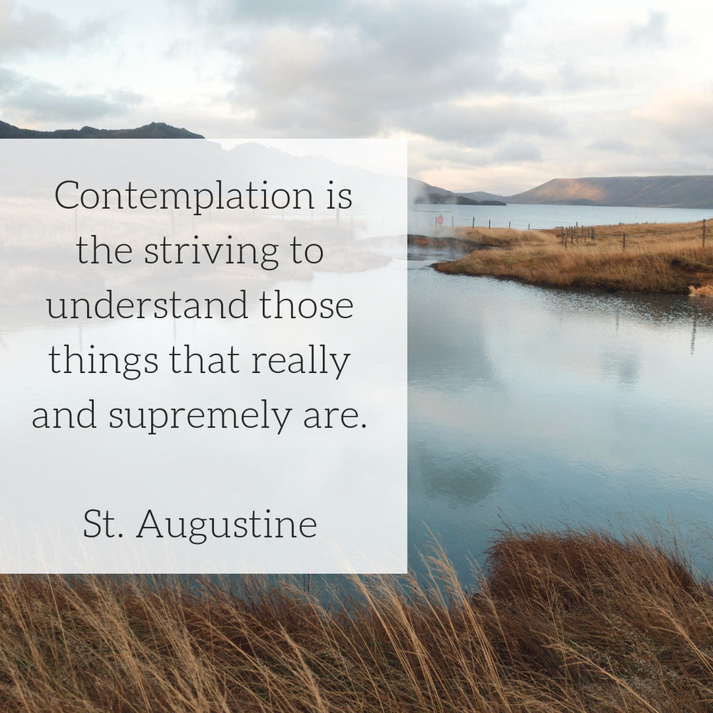 Contemplation is %22the striving to understand those things that really and supremely are.%22.jpg