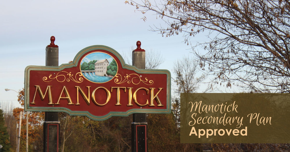 ARAC and Council have approved the Manotick Secondary Plan