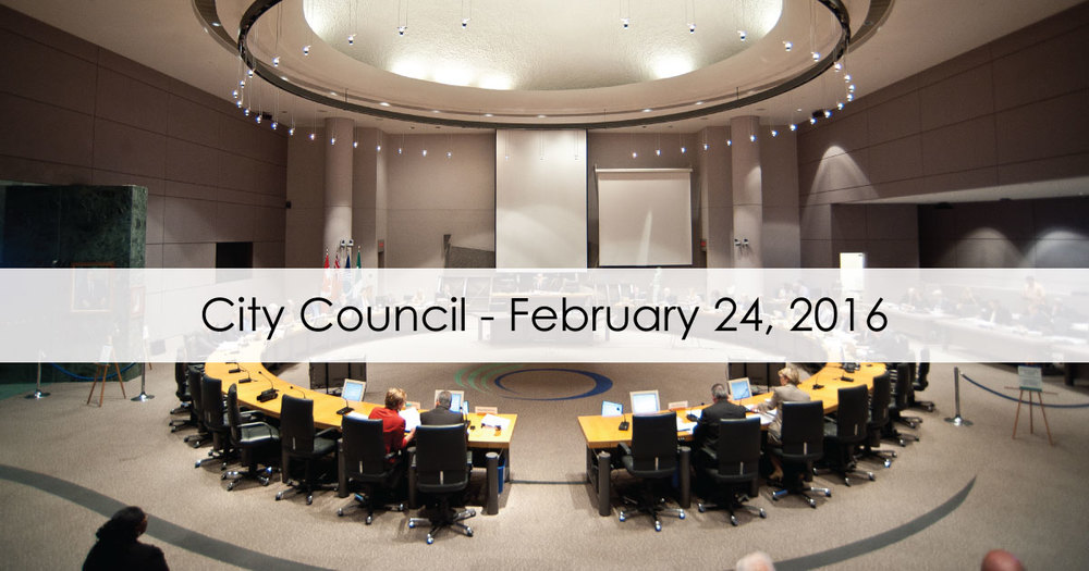 February 24, 2016 city Council Meeting