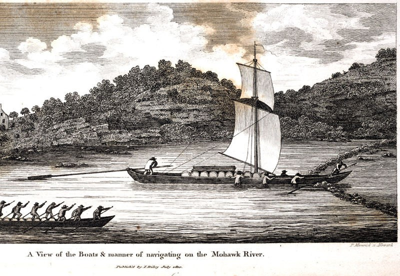 The Durham Boat used to ship goods from Montreal to Richmond.