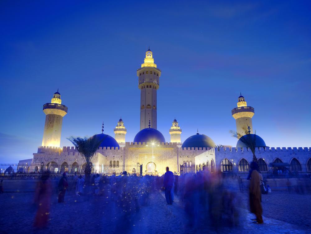 gathering at grand mosque de touba