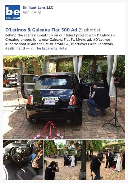 Image of D'Latinos & Galeana Fiat 500 photos on Be Brilliant Marketing's Facebook