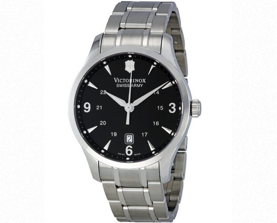Image of a Silver Victorinox Swiss Army Watch