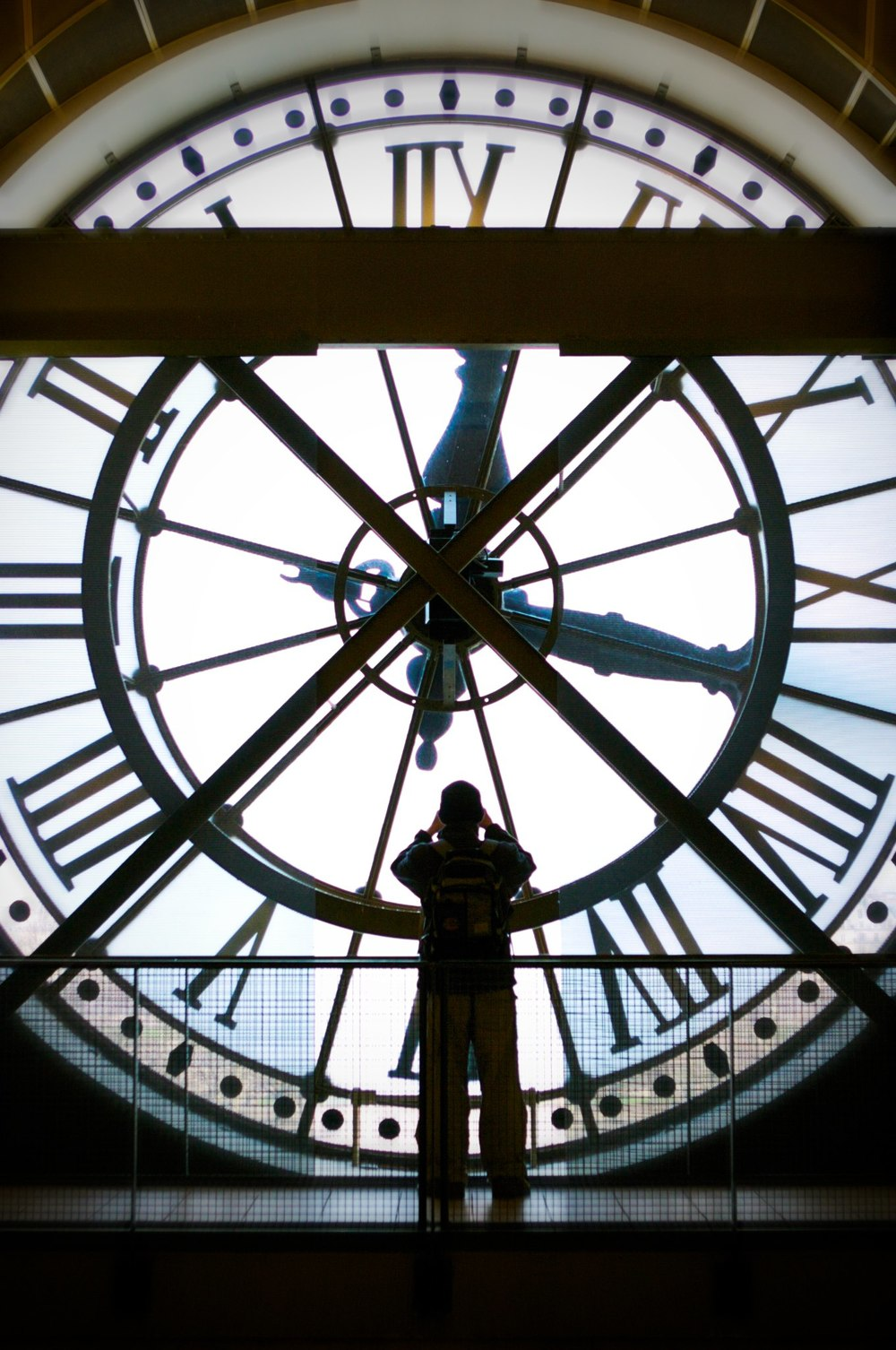 Clock in the Musee D'Orsay in Paris, France