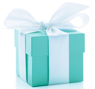 Crowned with a white ribbon, the Tiffany Blue Box is an international symbol of style and sophistication.