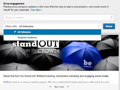 Sharing Linkedin post to your followers