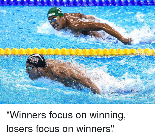 Here is a great example of the power of focus. After Phelps beat Chad Le Clos from South Africa, who was trashing him leading up to this swim, this meme went viral. Phelps won gold in this race and Le Clos finished fourth, not even qualifying for a medal.