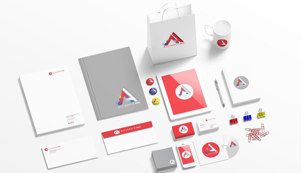 Alliance for the Arts, logo redesign and brand identity package.