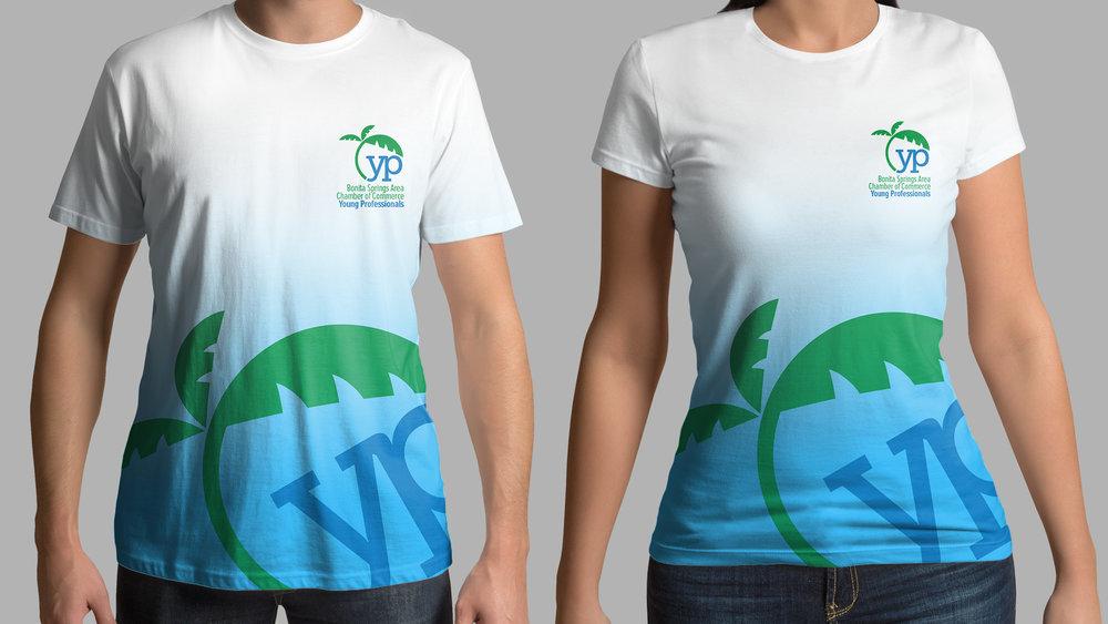 Bonita-Springs-Young-Professionals-logo-on-tshirt
