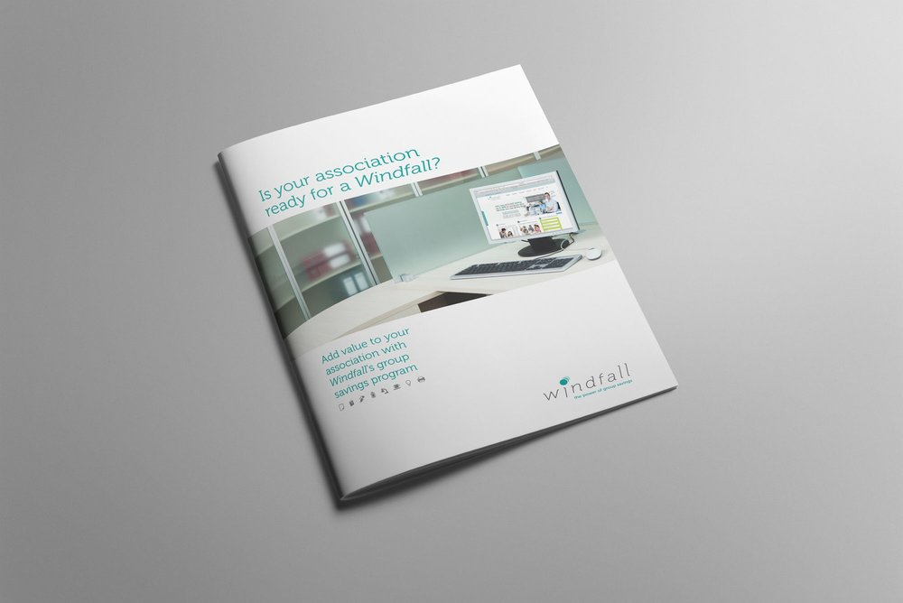 WIndfall Marketing Brochure - Cover page design