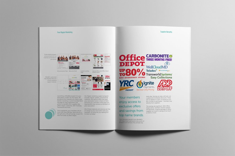 WIndfall Marketing Brochure - Features page design