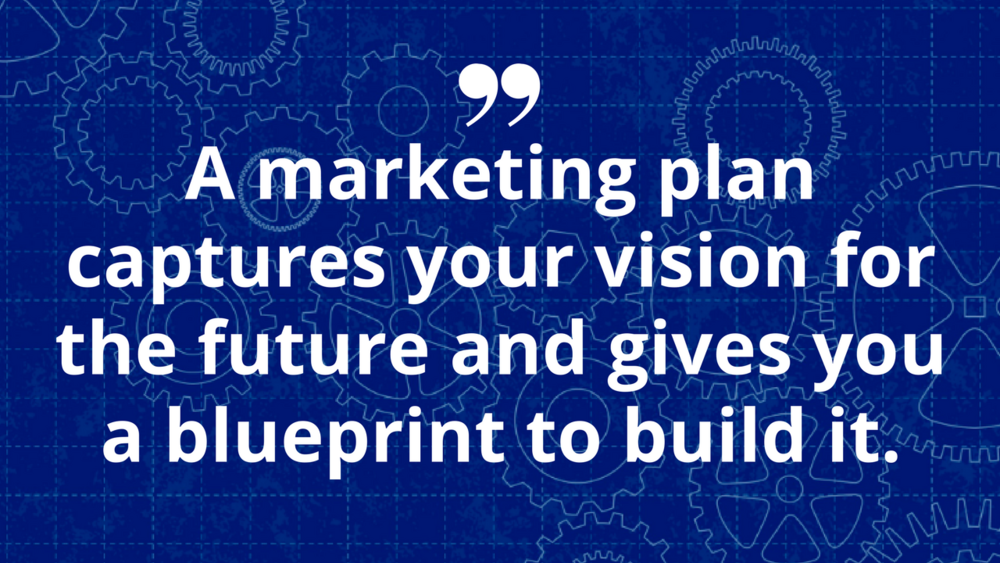 Graphic of Marketing Plan Blueprint