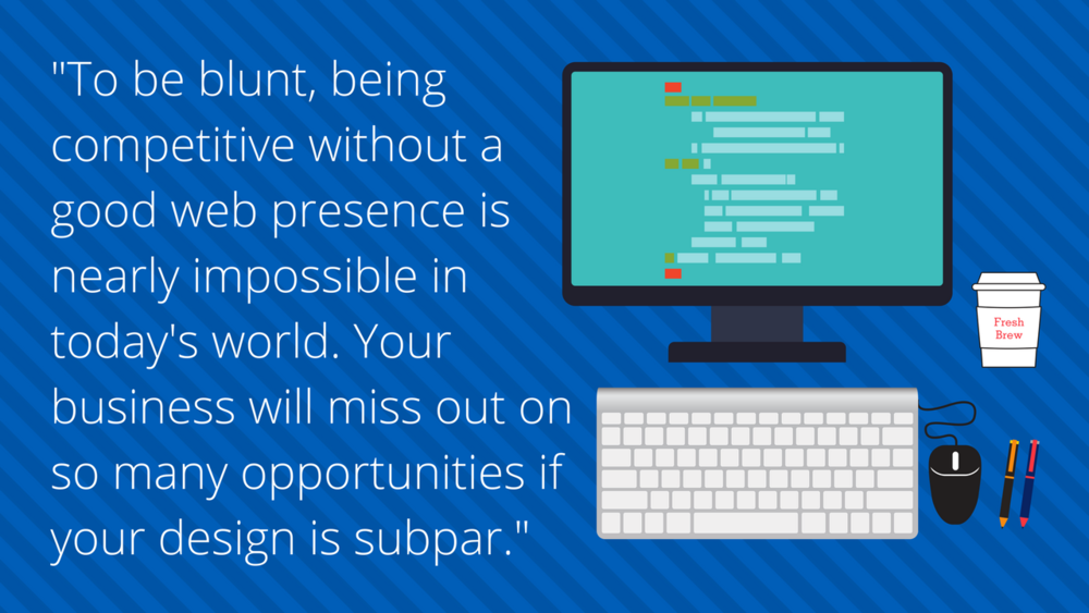 Graphic of Competitive Web Presence Quote
