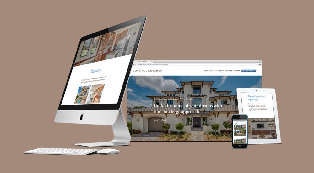 Coastal Craftsmen Construction website design