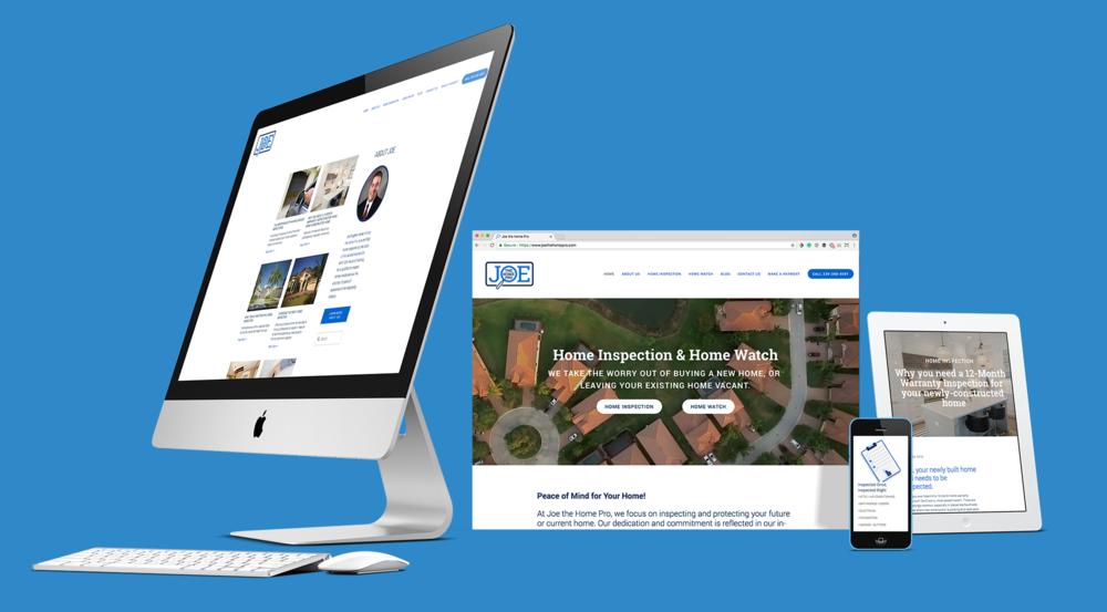 Joe the Home Pro, website design.