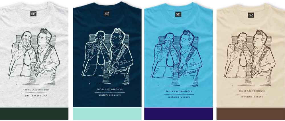 The 2013 line of t-shirts was produced in the following colors and print colors.  If you'd like to buy one, they are still available.