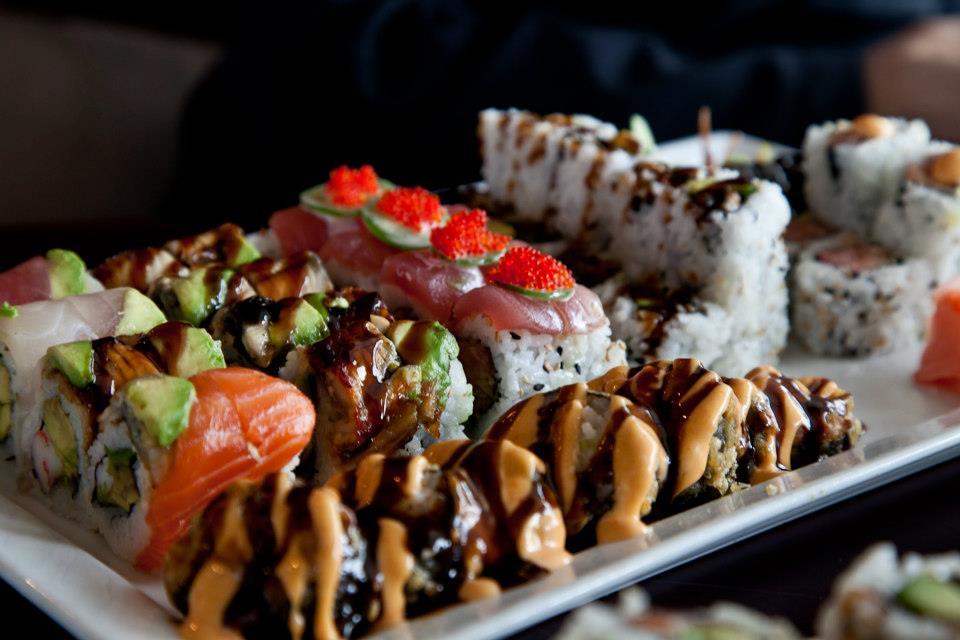 assorted sushi.  cafe sado .