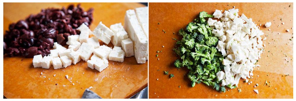 kalamata olives + feta |broccoli+ cauliflower