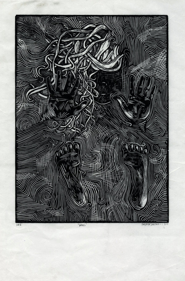 linocut piece from 2011
