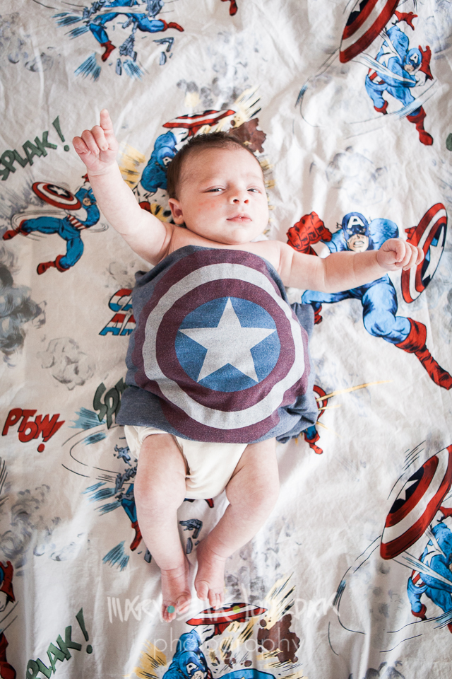 super baby superhero infant captain america comic book mary ella jourdak photography
