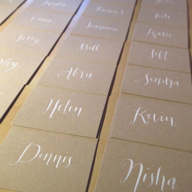 NYE Wedding // Place Cards