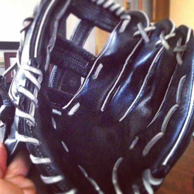 Breaking in the new glove
