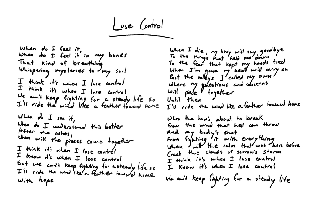Lyric bones lyrics : LYRICS — Colony House