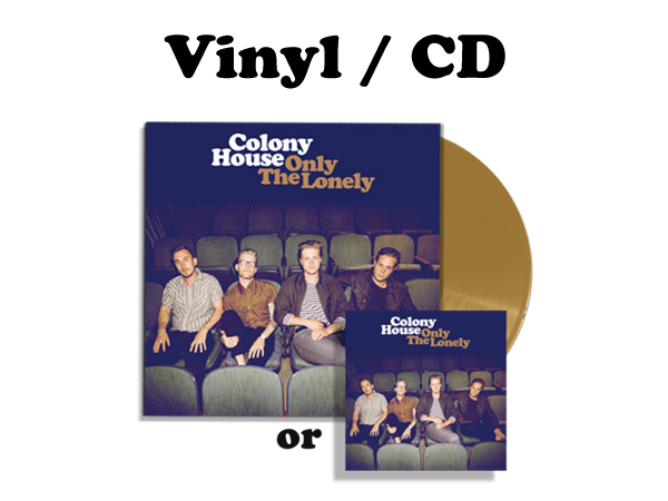 - Only The Lonely - Gold Vinyl or CD FULL ALBUM DIGITAL DOWNLOAD CARD INCLUDED WITH VINYL
