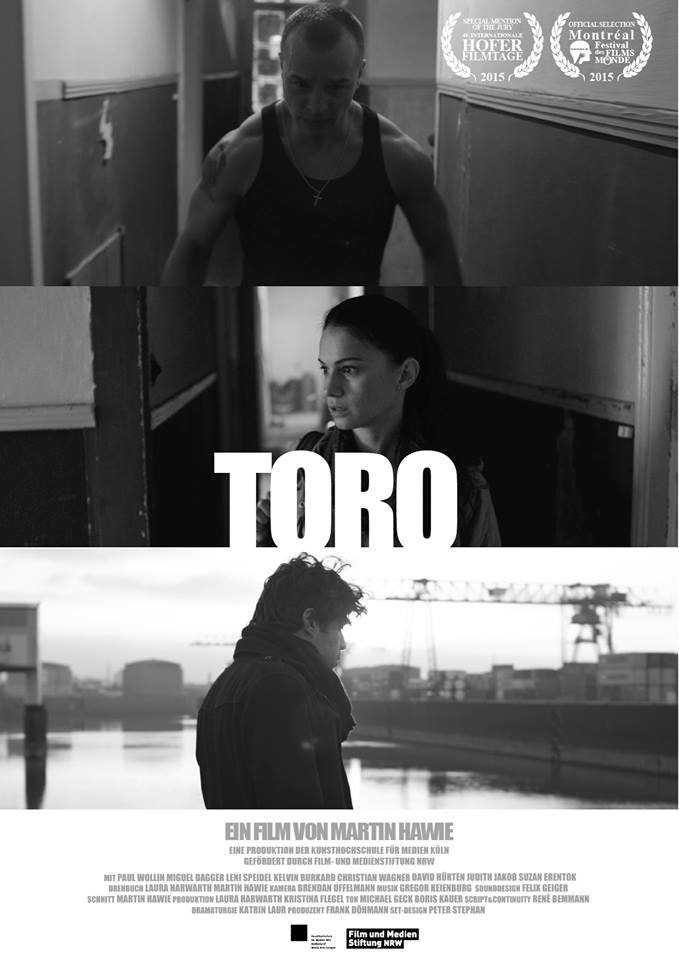 In cinemas TORO - end of April 2017with Paul Wollin, Miguel Dagger, Leni Speideldirected by Martin Hawiefestivals: Berlinale, Montreal, Hofer Filmtage, Guadalajara