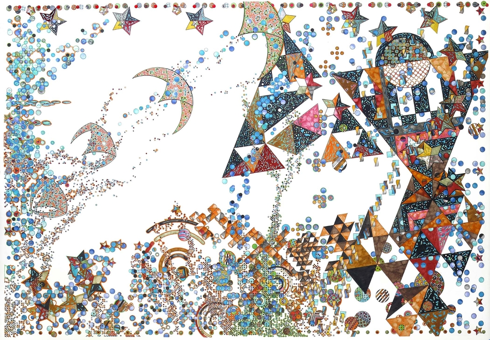 "ORANGE MANTA SHIPS @ THE STAR NURSERY 48X68"""