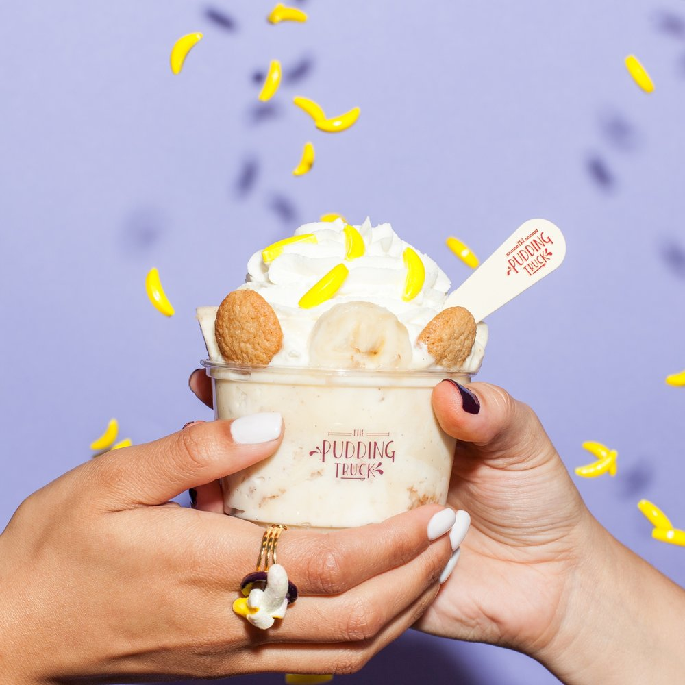 Southern Banana Pudding - Our classic vanilla bean pudding layered and topped with homemade brown butter vanilla wafers, bananas, and fresh whipped cream. We put a Californian spin on the Southern staple and it's our #1 fan favorite!