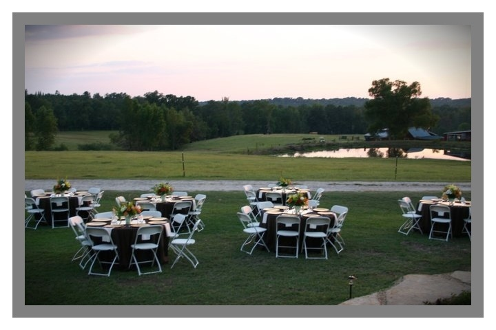 The view from our back porch.  What a gorgeous spot for wedding guests to dine.