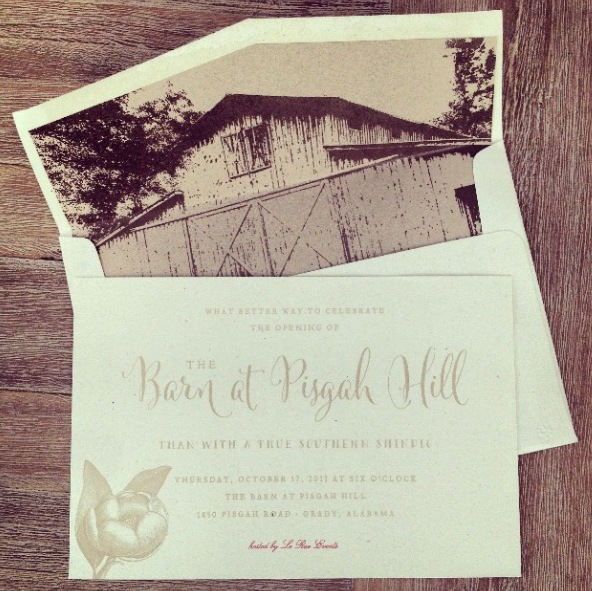 "Thanks to a ""not so"" local wedding vendor and new friend Christina for IG'ing our invites."