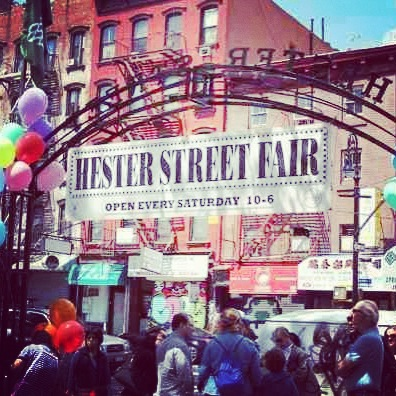 Young's first weekend at the Hester St Fair!