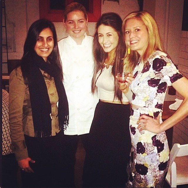 The gorgeous @chefchloe @lauraannball and @jyoungnyc after a great pop-up! Thanks for the pic @chefchloe :)