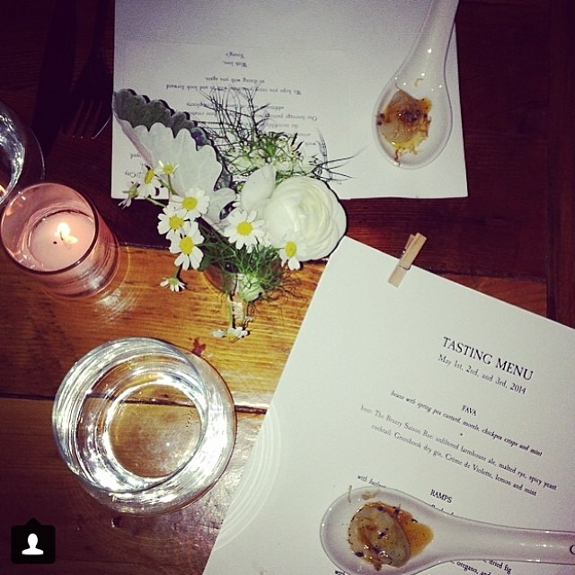 Thanks @wtf_magazine for the kind words and great pic of our menu and Cippolini amuse from last weeks pop-up!