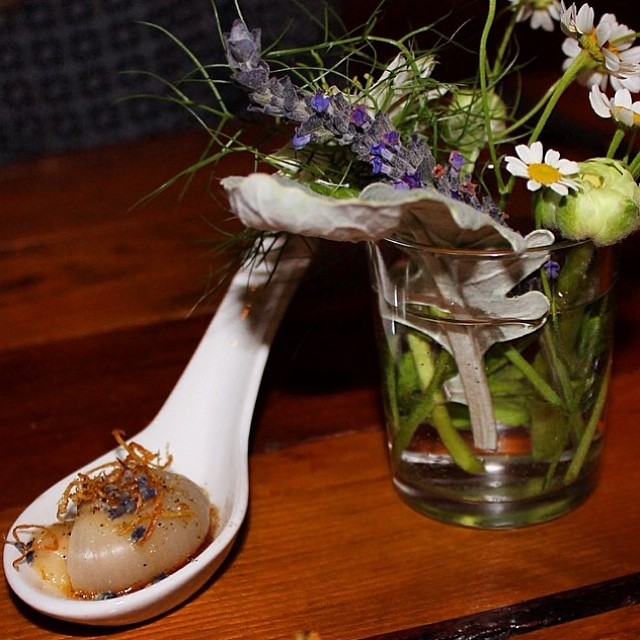 Awesome pic @nobreadnyc of our amuse from last week's pop-up restaurant! Thank you :))
