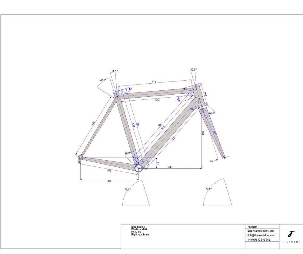 Filament frame drawing